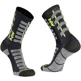 Northwave Husky Ceramic Tech Calze Alte Uomo, black/yellow fluo